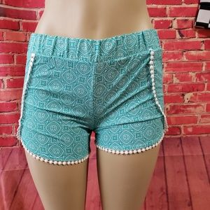 Catherine Malandrino blue green Women's shorts S